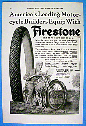 1916 Firestone Tires With Motorcycle