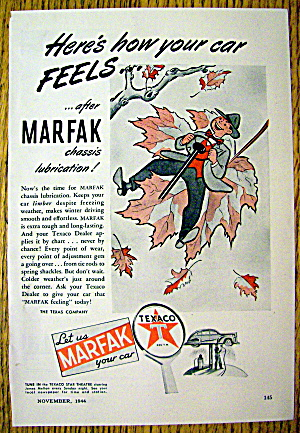 1944 Marfak Lubrication With Man On Leaf