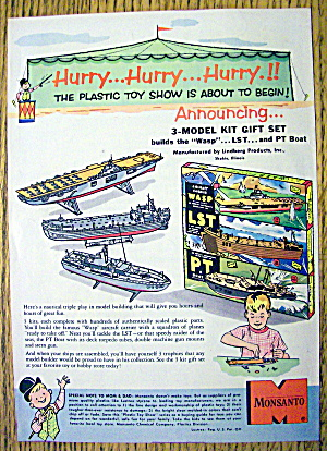 1950's Monsanto Model Kit With Boats