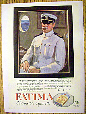 1918 Fatima Cigarettes With Captain In The Service