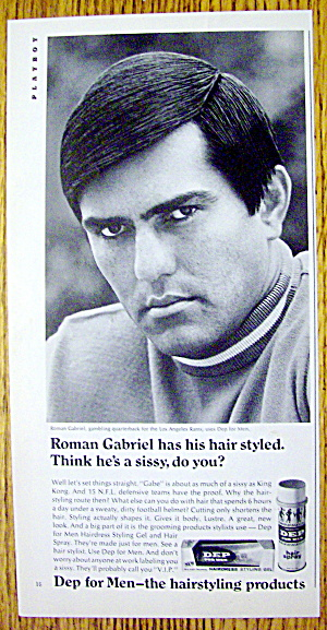 1968 Dep For Men With Los Angeles Rams' Roman Gabriel
