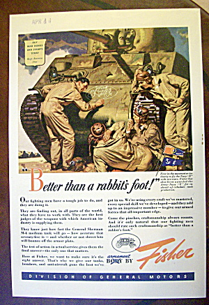 1943 Body By Fisher With 3 Soldiers By Tank