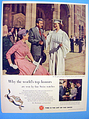 1953 Swiss Watches With Girl Graduating