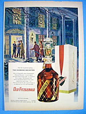 1953 Old Fitzgerald Whiskey With Group Of Men
