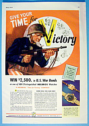 1943 U. S. War Bonds With Uncle Sam As A Soldier