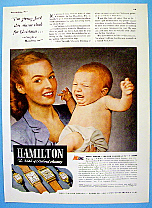 1945 Hamilton Watch With Woman & Crying Baby