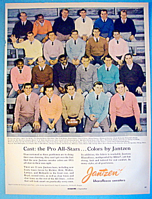 1955 Jantzen With Pro Football All Stars