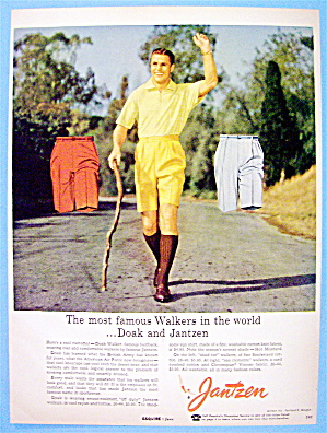 1956 Jantzen Walkers With Famous Halfback Doak Walker