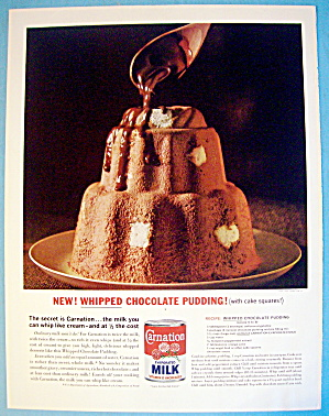 1963 Carnation Milk With Whipped Chocolate Pudding