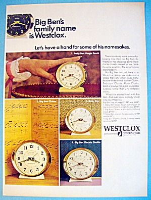 1967 Westclox With Big Ben & Baby Ben Clocks