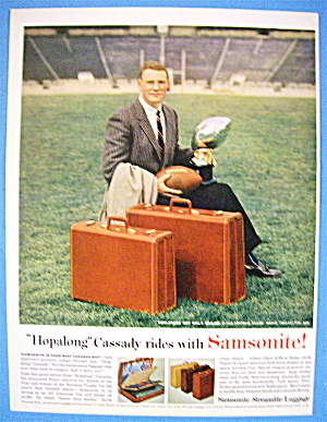 1956 Samsonite Luggage With Football's Hopalong Cassady