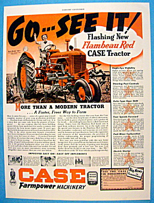 1939 Case Farmpower W/ Red Tractor