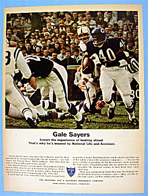 1967 National Life & Accident Insurance W/ Gale Sayers