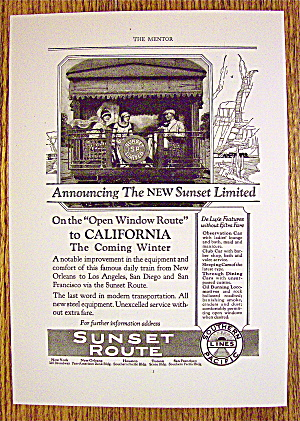 1924 Southern Pacific Lines With Sunset Route