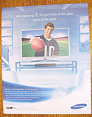 2010 Samsung With New York Giants' Eli Manning