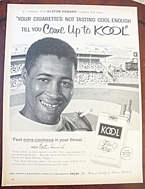 1962 Kool Cigarettes With Elston Howard