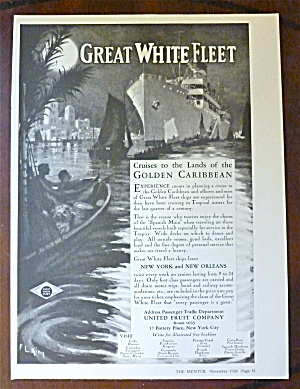 1928 Great White Fleet With Golden Caribbean
