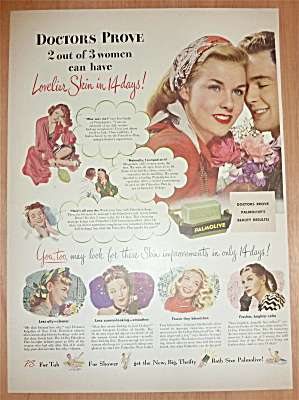 1947 Palmolive Soap With Lovely Woman With Man