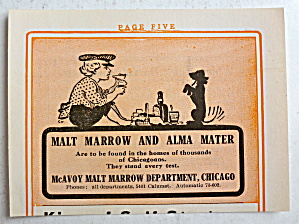 1912 Mcavoy Malt Marrow Chicago With A Boy & His Dog