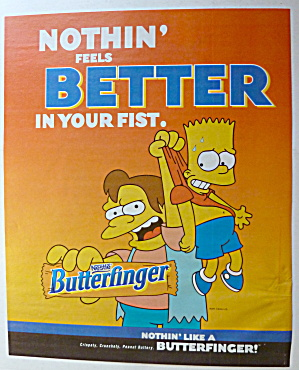 2001 Nestle Butterfinger With Bart Simpson