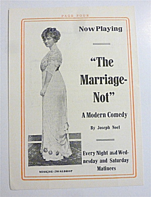 1912 The Marriage Not Modern Comedy With Lovely Woman