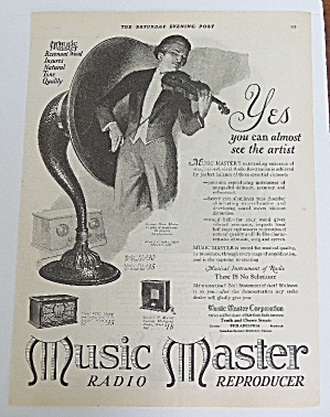 1925 Music Master With Man Playing Violin