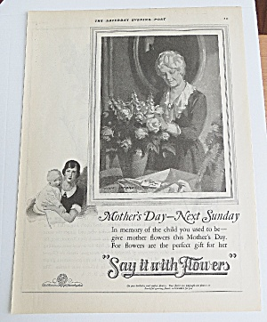 1925 Say It With Flowers With Woman Arranging Flowers