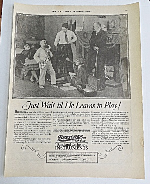 1926 Buescher Instruments With Boy Playing Saxophone