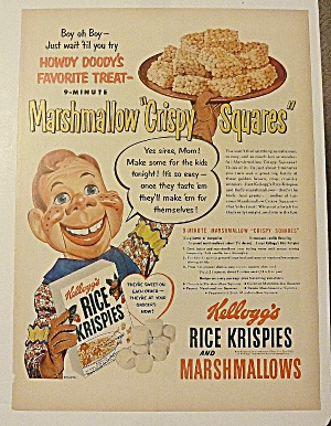 1951 Kellogg's Rice Krispies With Howdy Doody
