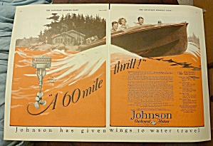 1928 Johnson Outboard Motor With 60 Mile Thrill