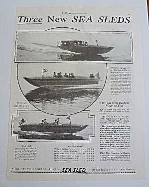 1929 Sea Sleds With 3 Different Models