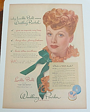 1944 Woodbury Powder With Lucille Ball (I Love Lucy)
