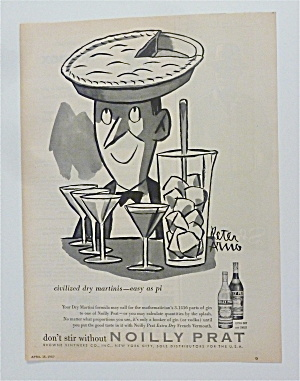1957 Noilly Prat Extra Dry French Vermouth W/ Man