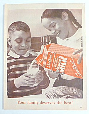 1963 Sealtest Milk With A Girl Pouring Milk