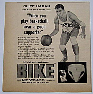 1958 Vintage Kendall Bike Supporter With Cliff Hagan