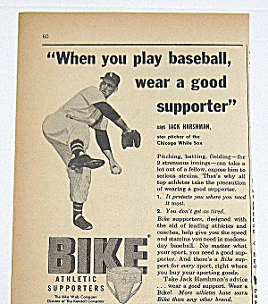 1958 Vintage Bike Athletic Supporter With Jack Harshman