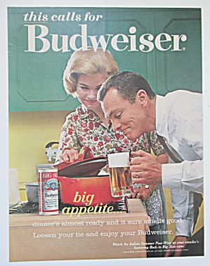 1963 Budweiser With The Neighbors