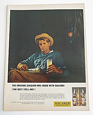 1963 Bacardi With Man Holding A Drink In His Hand