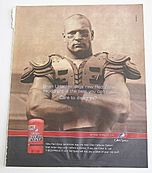 2003 Old Spice Red Zone Deodorant With Brian Urlacher