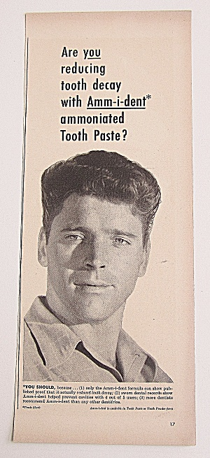 1950 Ammident Tooth Paste With Burt Lancaster