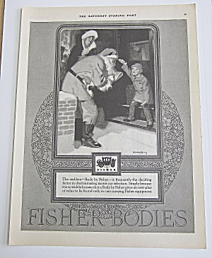1925 Fisher Body With Santa Claus & Little Child