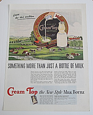 1940 Cream Top With Cows In The Pasture