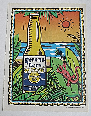 2000 Corona Extra Beer With Bottle Of Beer