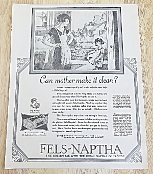 1925 Fels-naptha With Woman & Little Girl