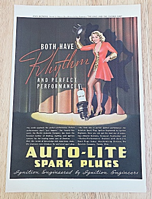 1937 Auto Lite Spark Plugs With Joan Blondell
