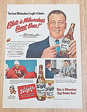 1949 Blatz Beer With Pat Harder