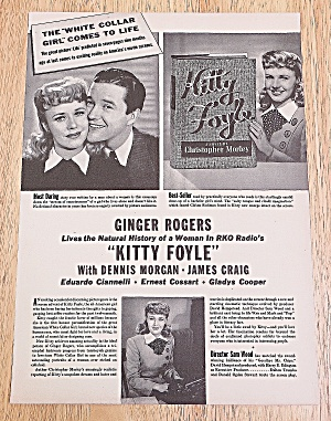1940 Kitty Foyle With Ginger Rogers