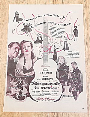 1946 Masquerade In Mexico With Dorothy Lamour