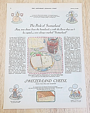 1929 Switzerland Cheese With Sandwich With Cheese