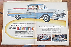 1958 Ford Ranchers With Man Driving